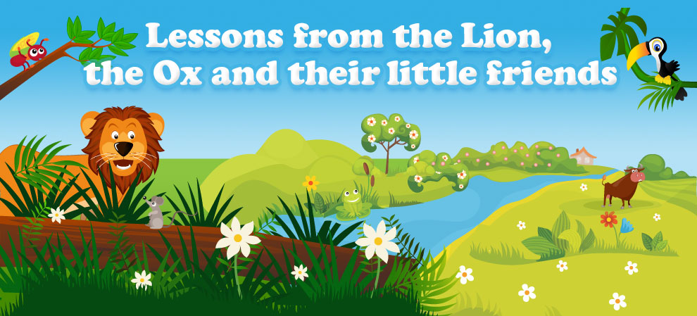Lessons from the Lion, Fox and their little friends - Aesop's fable - download at Apple iBookstore